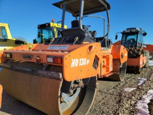 used hamm double drum roller compaction